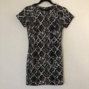 Aqua Animal Print Mini Dress